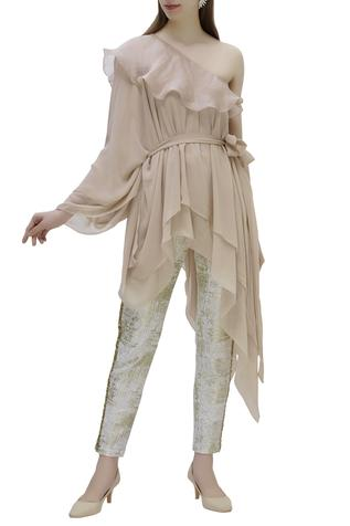 Asymmetric Top with Pants
