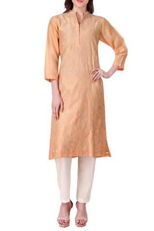 Chanderi silk kurta