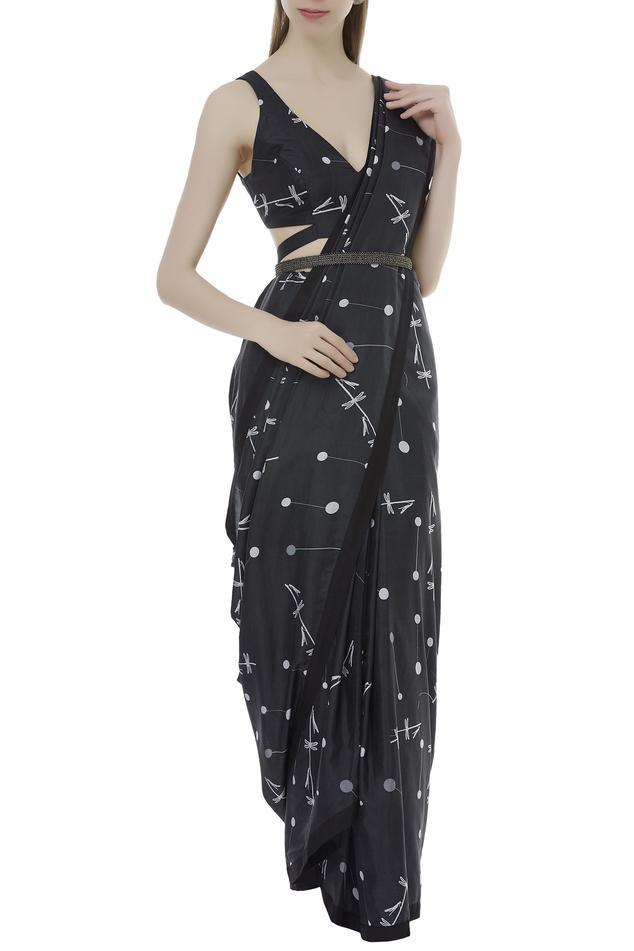 Silk Printed Saree With Blouse