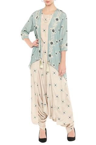 Printed Jumpsuit with Jacket
