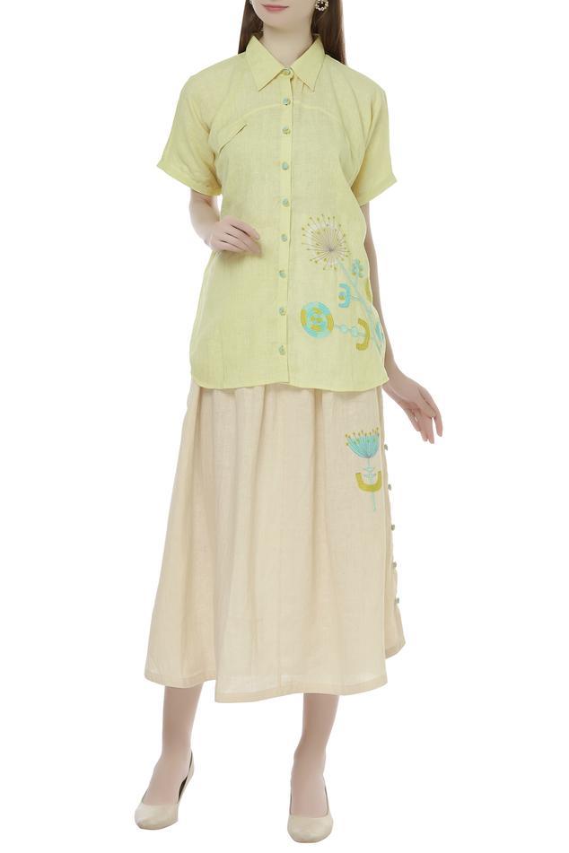 Linen Embroidered Shirt