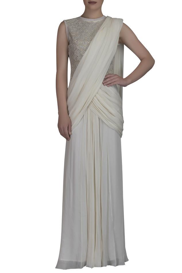 Pre-Draped Saree Gown