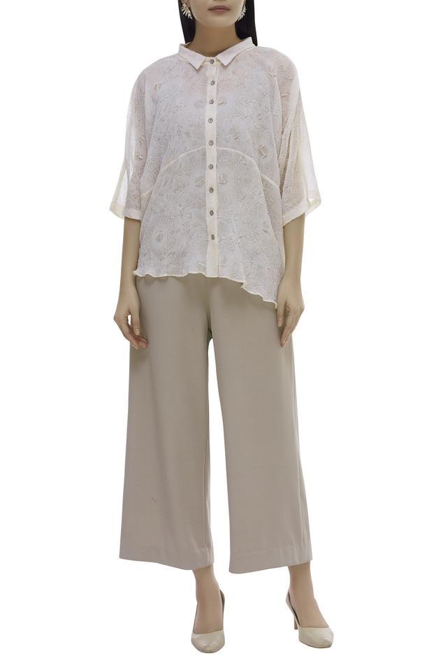Textured Shirt Pant Set