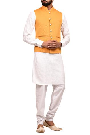 Textured Bundi & Kurta Set