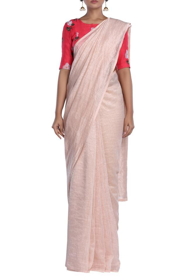 Chanderi Striped Saree