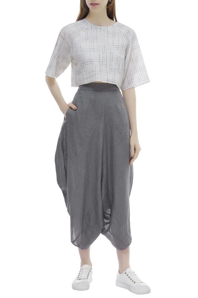 Organic Cotton  Draped Pants