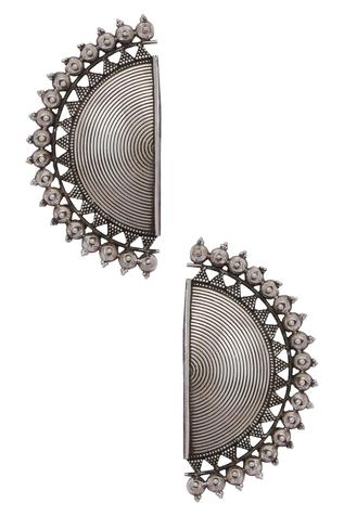 Semi Circular Stud Earrings