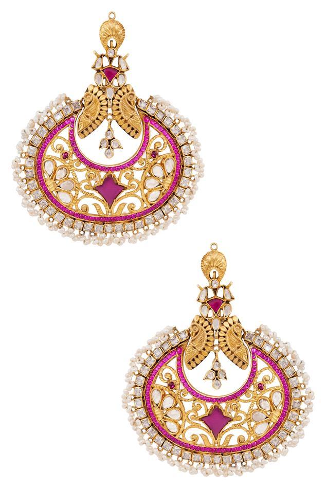 Pearl & Crystal Dangler Earrings