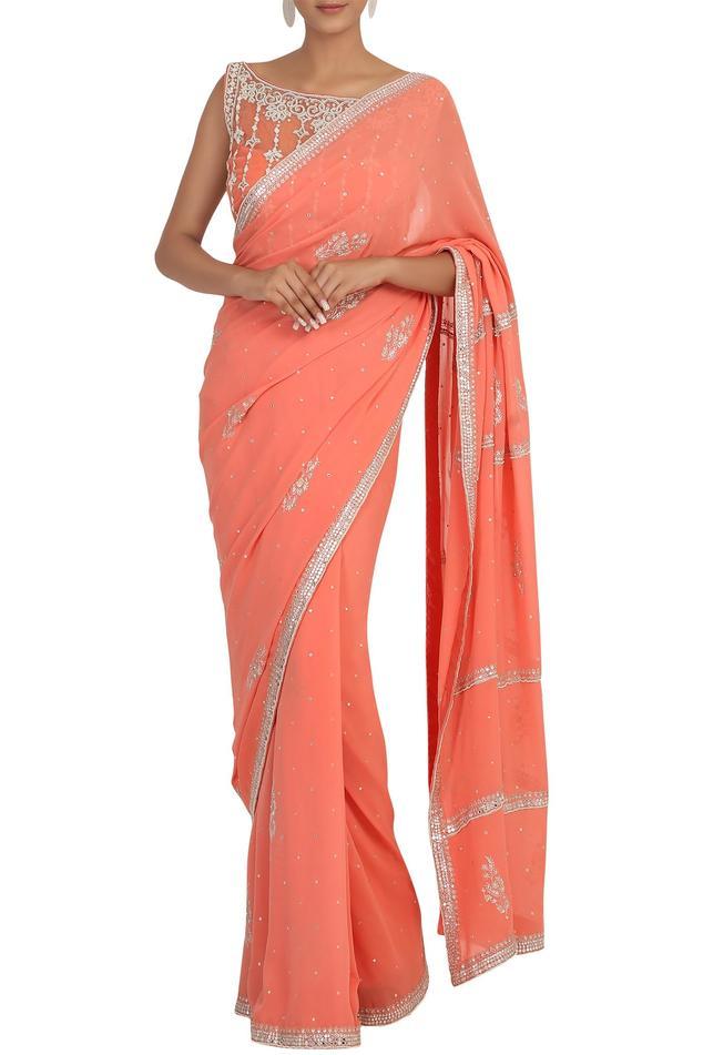 Embellished Saree Set