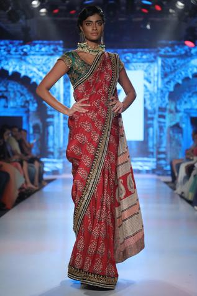 Printed Silk Saree with Blouse