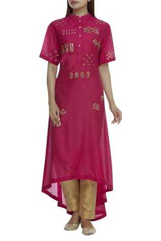 Chanderi High Low Kurta