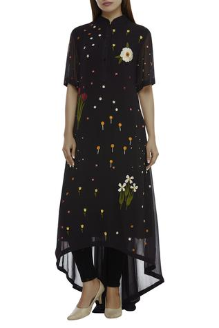 High Low Embroidered Kurta