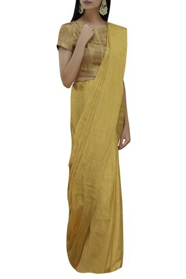 Handloom Jacquard Saree with Running Blouse