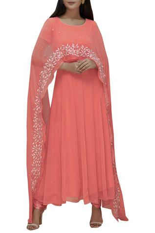 Embroidered Anarkali Set