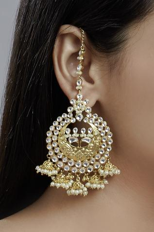 Jhumka Chandbali Earrings
