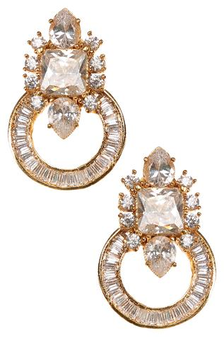 Circular Crystal Earrings