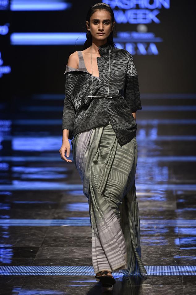Striped Saree