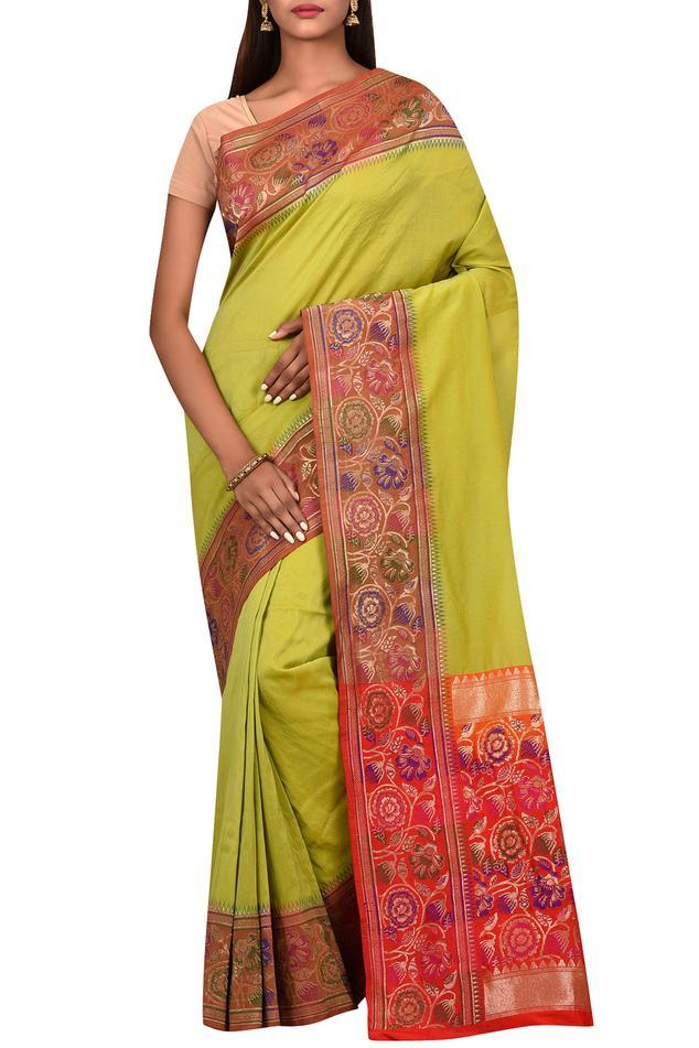 Banarasi Silk Saree with Running Blouse Fabric