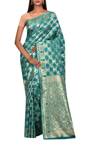 Banarasi Silk Saree with Running Blouse Fabric