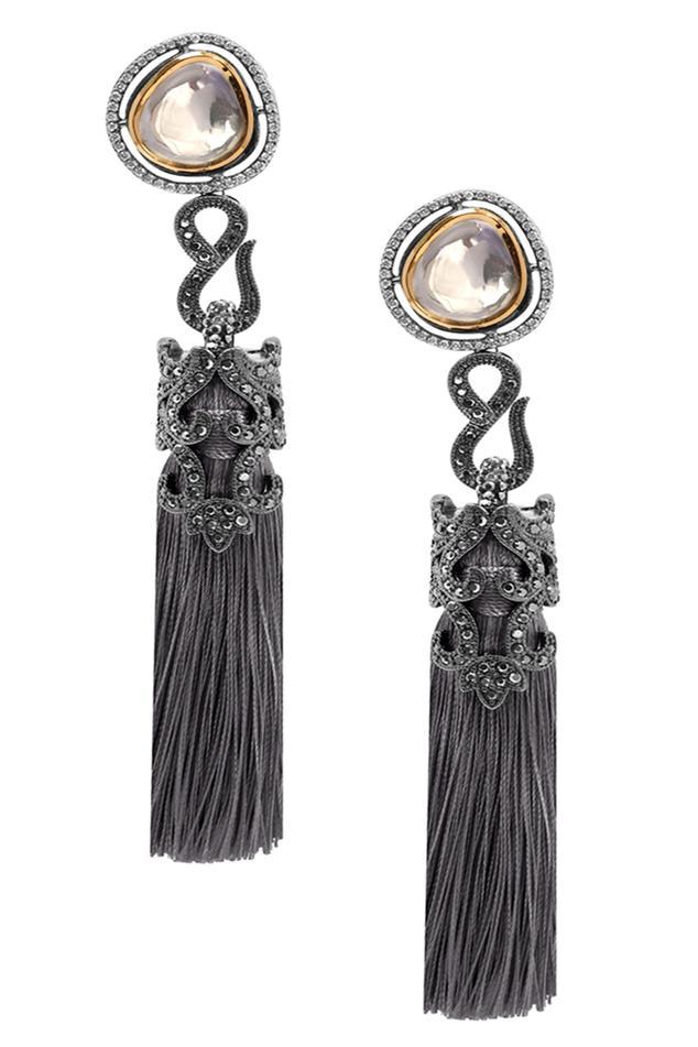 Kundan Tassel Earrings