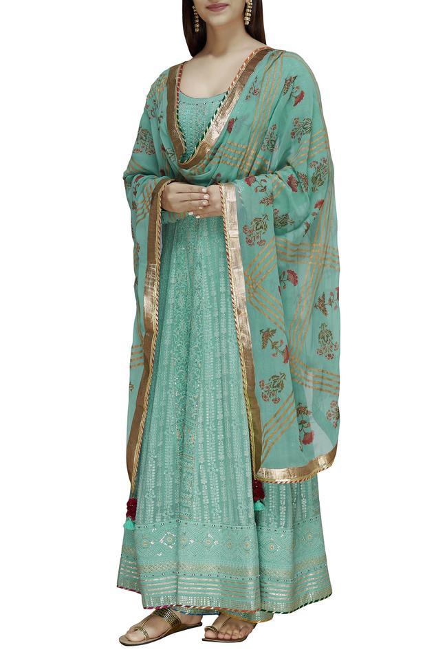 Chikankari Anarkali Set