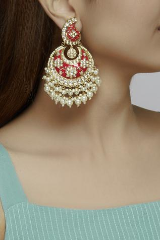 Meenakari Chandbali Earrings