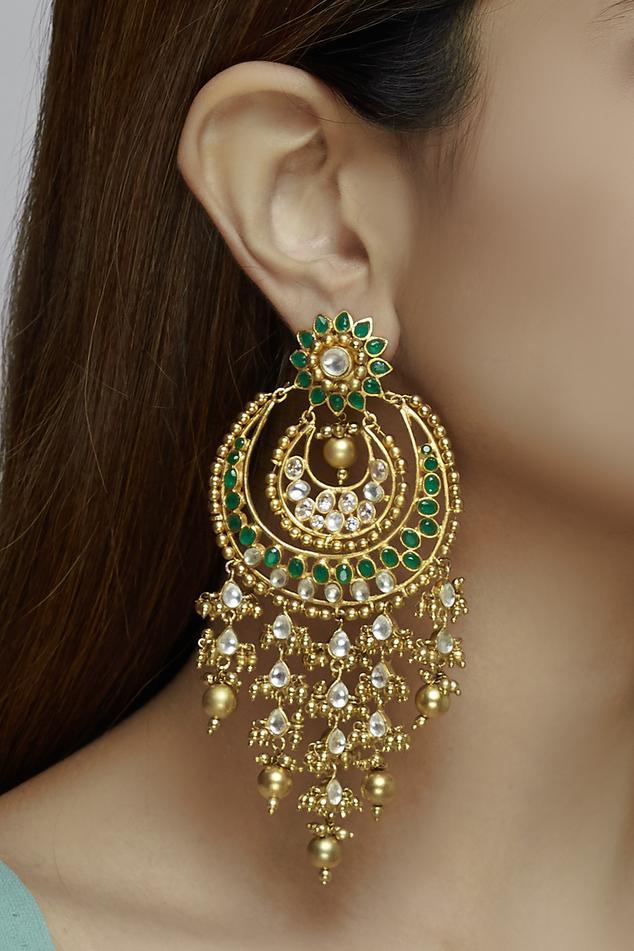 Stone Chandbali Earrings