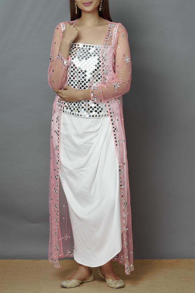 Embellished Jacket Skirt Set
