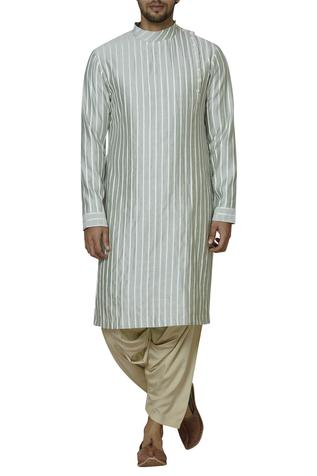Chanderi Striped Kurta