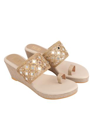 Embellished Kolhapuri Wedges