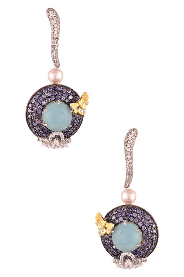 Circular Crystal Earrings
