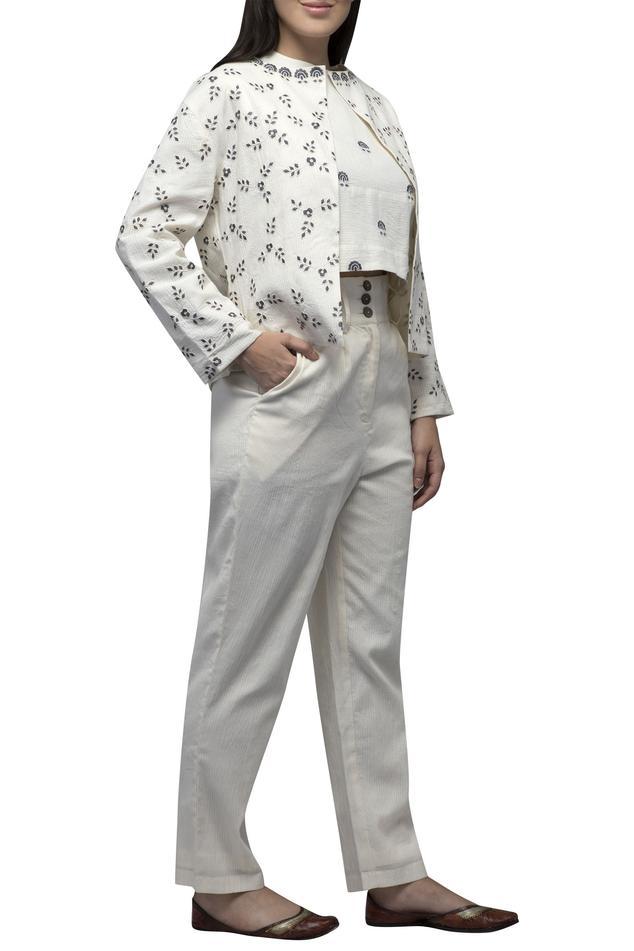 Embroidered Jacket Pant Set