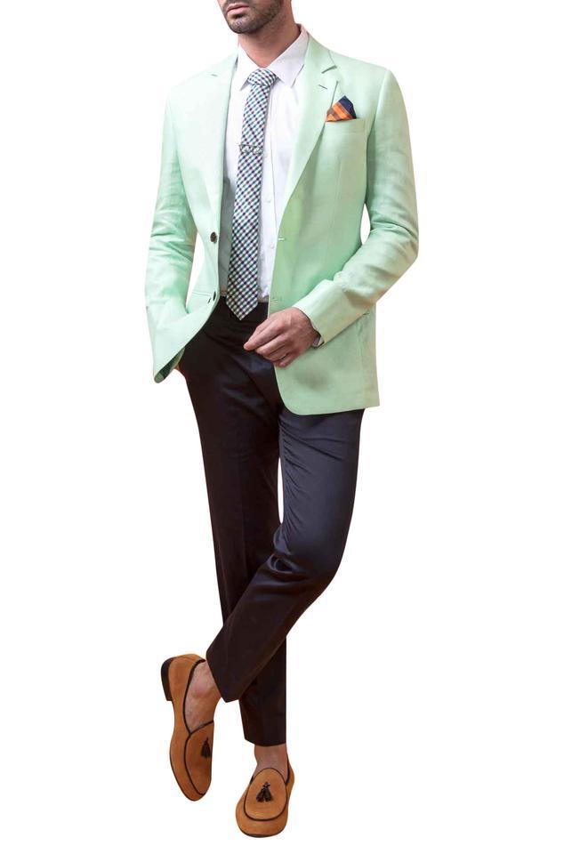 Linen Notch Lapel Jacket