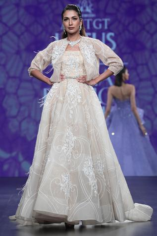 Embellished Gown with Jacket