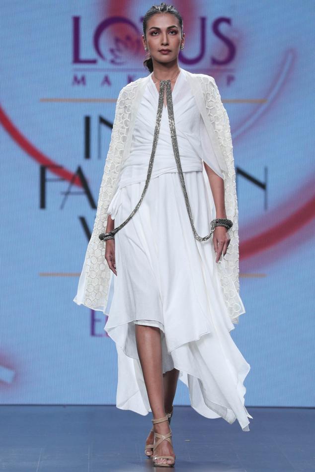 Cotton Asymmetrical Dress