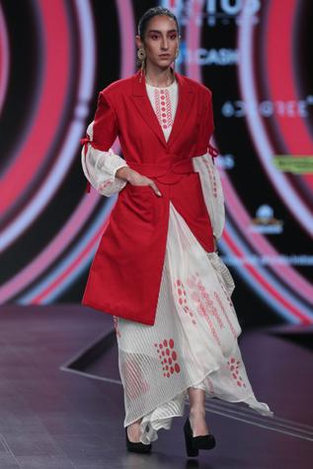 Organza Printed Dress