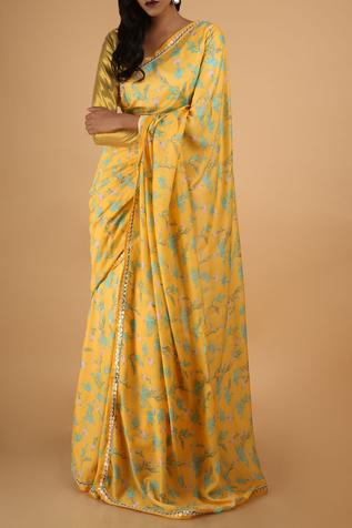 Cotton Silk Saree with Unstitched Blouse Fabric