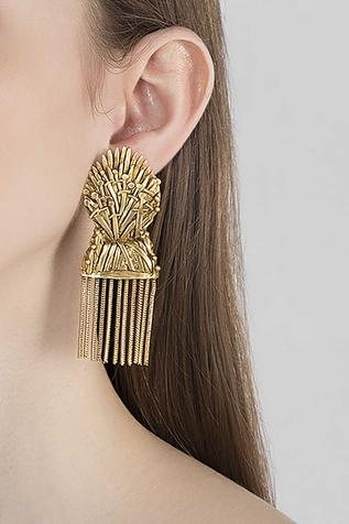 Carved Statement Earrings