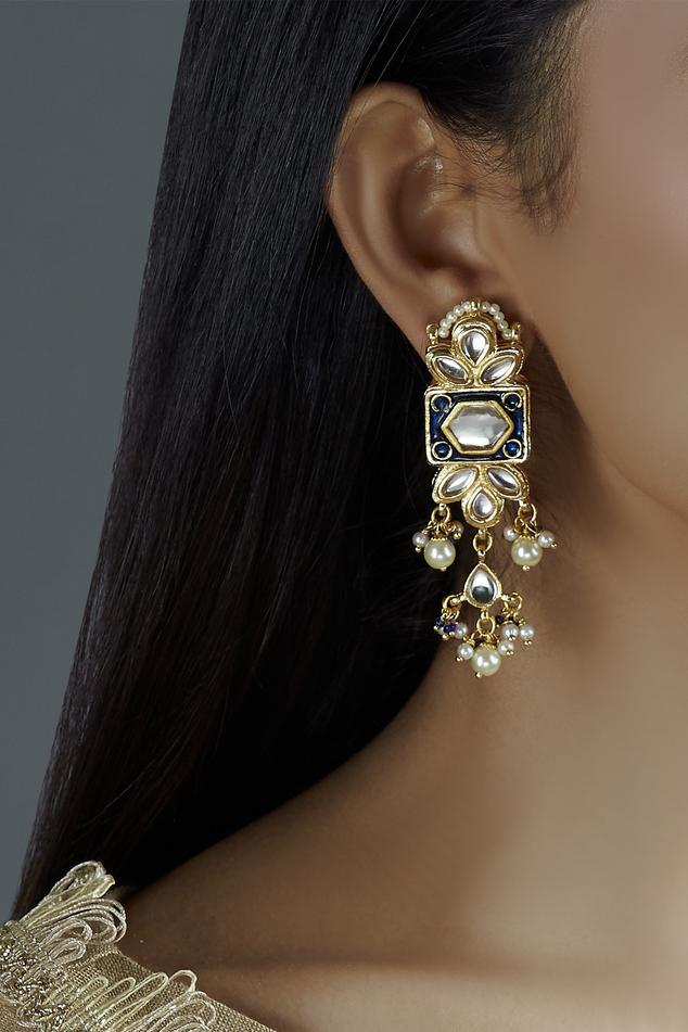 Meenakari Dangler Earrings