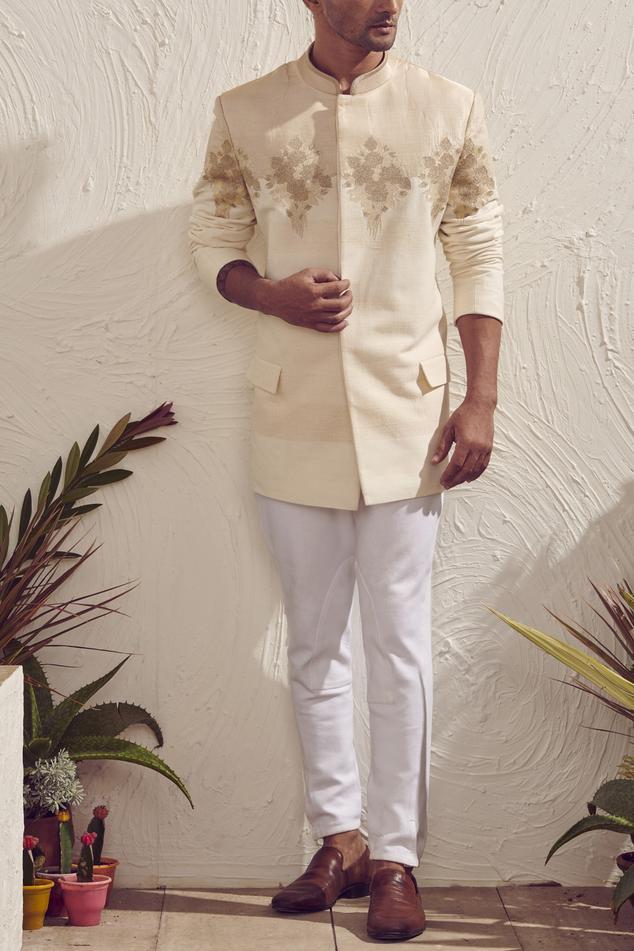 Embroidered Bandhgala with Pants