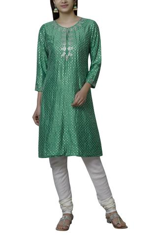 Embellished Silk Kurta