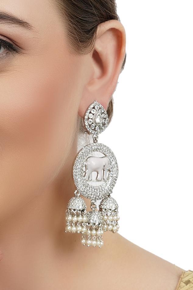 Crystal Jhumka Danglers