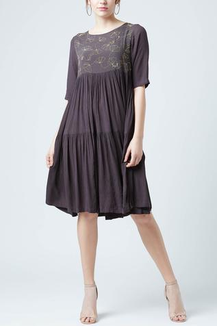 Upcycled Cotton Embroidered Dress