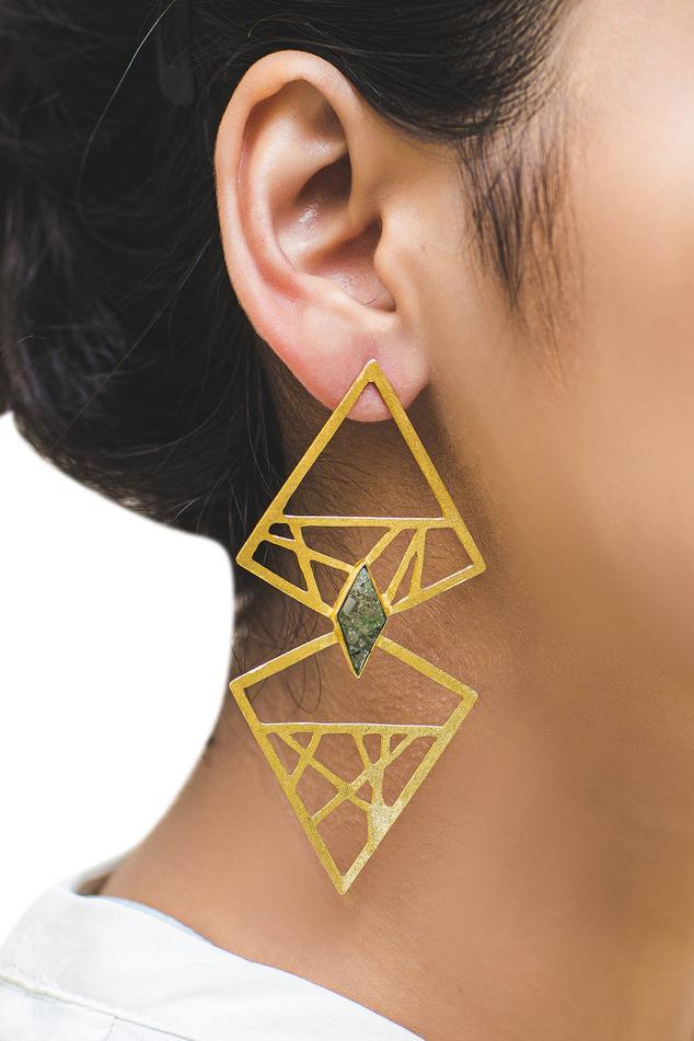Cutout Dangler Earrings