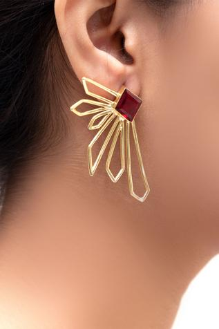 Cutout Statement Earrings