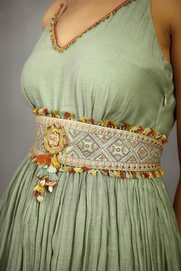 Chanderi Embroidered Waist Belt