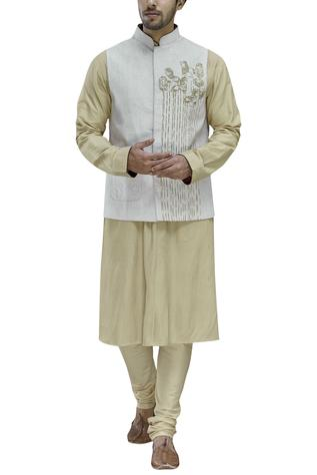 Linen Embroidered Bundi