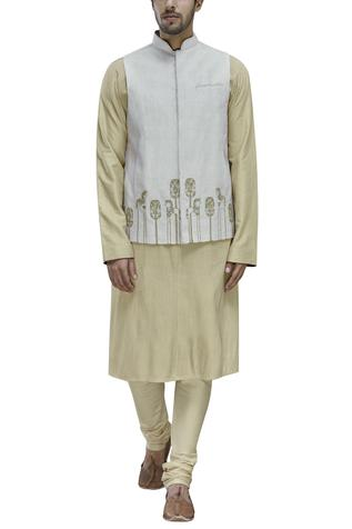 Linen Embroidered Bundi