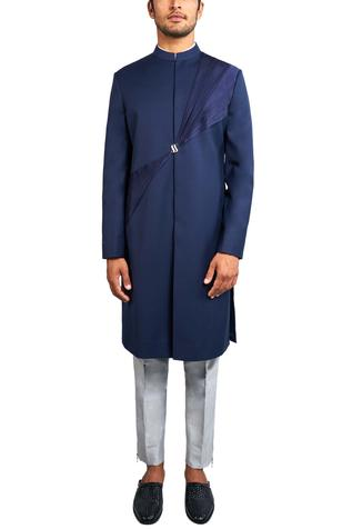 Pleated Sherwani Set
