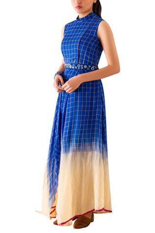 Ikat Draped Dress